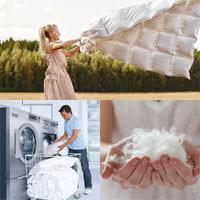Как стирать пуховое одеяло?